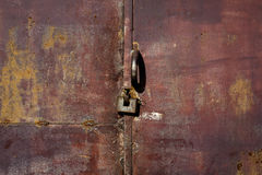 Old metal door with rust Royalty Free Stock Images