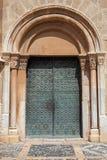 Old metal door in Tarragona, Spain Stock Photo