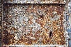 Old metal door texture with rust Stock Photos