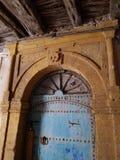 Old metal door in old town royalty free stock photo