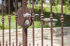 Old metal doorknob. Stock Photo