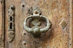 Old metal dorr handle royalty free stock image