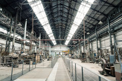 Old Metal Factory View Stock Photo