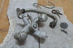 Old metal faucet Royalty Free Stock Images