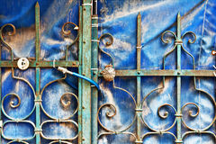 Old metal fence. Royalty Free Stock Photo