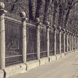 Old metal fence. Royalty Free Stock Images