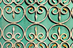 Old metal fence detail Stock Images