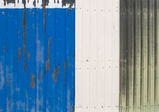 Old Metal Fence Sections Stock Image