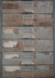 Old metal file cabinet is rust. Royalty Free Stock Image