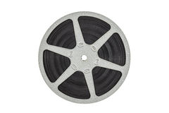 Old Metal Film Reel Isolated Stock Image