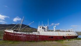 Old metal fishing ship Patreksfjordur Royalty Free Stock Photography