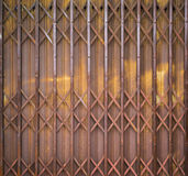 Old Metal Folding Door with rusty Royalty Free Stock Images