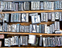 Old metal fonts Royalty Free Stock Image