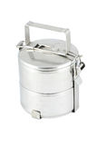 Old metal food carrier Stock Image