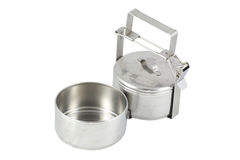 Old metal food carrier Stock Images