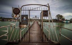 Old metal footbridge Royalty Free Stock Photo