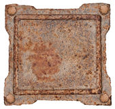 Old Metal Frame. Old Metal Frame, isolated on white background Royalty Free Stock Photos