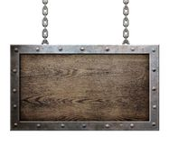 Old metal frame with chains Royalty Free Stock Photo