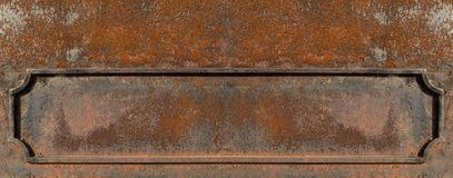 Old metal frame on eroded surface with heavy rust stock images