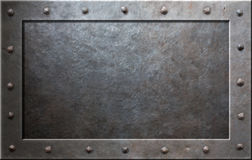 Old metal frame. With rivets Stock Images
