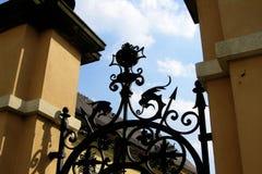 Old metal gate details Royalty Free Stock Image