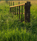 Old metal gate on the farm. Abstract Royalty Free Stock Image