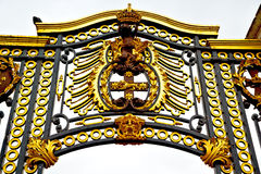 Old metal gate of royal palace Stock Images
