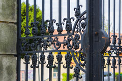 Old metal gate. stock images
