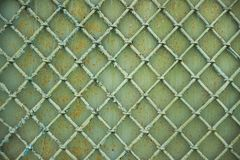 Old metal grill fence Stock Images
