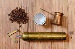 Old metal grinder coffee Stock Image