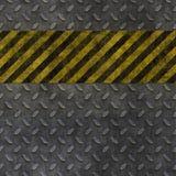 Old metal hazard background Stock Images