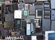 Old metal heatsinks Stock Images