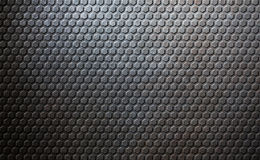Old metal honeycomb background Stock Image