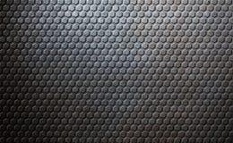 Old metal honeycomb background Stock Image