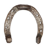Old metal horseshoe isolated Royalty Free Stock Photography
