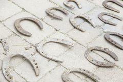 Old metal horseshoes Stock Photography