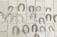 Old metal horseshoes Stock Image