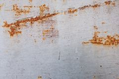 Metal Rust Background Metal Rust Texture. Beautiful unusual background. Rusted white painted metal wall. royalty free stock photography