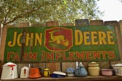 Old metal John Deere advertising sign Stock Images