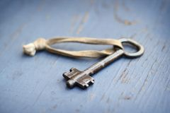 Old metal key Stock Photography