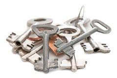 Old metal keys Stock Images