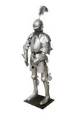 Old metal knight armour isolated on white background Stock Photography