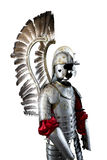 Old metal knight armour  on white background Stock Photography