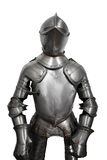 Old metal knight armour  on white background Stock Images