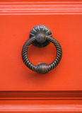 Old metal knocker in Barrio Alto, Lisbon, Portugal Royalty Free Stock Photo