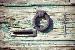 Old metal knocker door Royalty Free Stock Photo