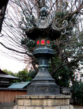 Old metal lantern at Yasukuni Shrine. An old metal lantern near the gate of Yasukuni Shrine, Tokyo, Japan Royalty Free Stock Photos
