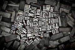 Old metal letters stock images