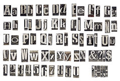 Old metal letters. Alphabet made from old metal letters Royalty Free Stock Images