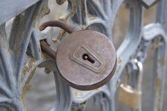 Old metal lock Royalty Free Stock Images